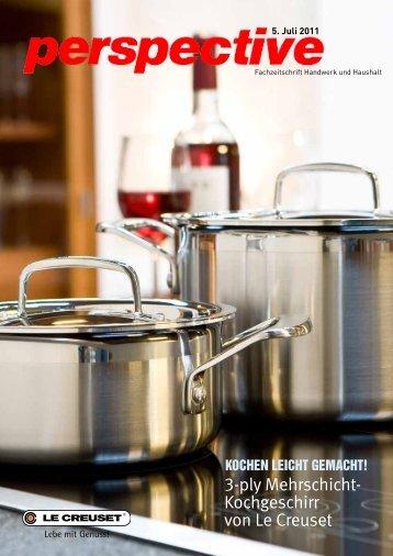 3-ply Mehrschicht- Kochgeschirr von Le Creuset - SWISSAVANT