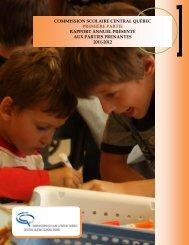 Rapport annuel 2011-2012 (Première partie) - Commission scolaire ...