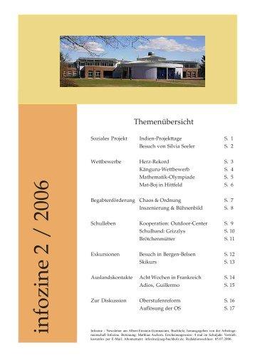 infozine 2 / 2006 - Albert Einstein Gymnasium
