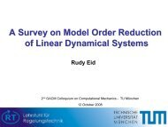 A Survey on Model Order Reduction of Linear Dynamical Systems