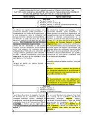 cuadro comparativo de las reformas al código electoral y de ...