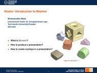 Howto: Introduction to Beamer - Technische Universität Dresden