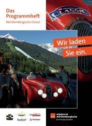 WC Heft 2011.indd - Württembergische-Classic