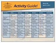 ActivityGuide! - Fairmont Hot Springs Resort