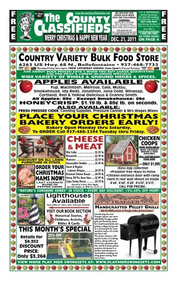 country variety bulk food store - The County Classifieds Online