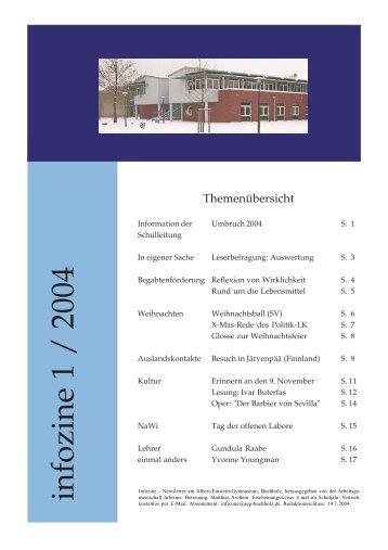infozine 1 / 2004 - Albert Einstein Gymnasium