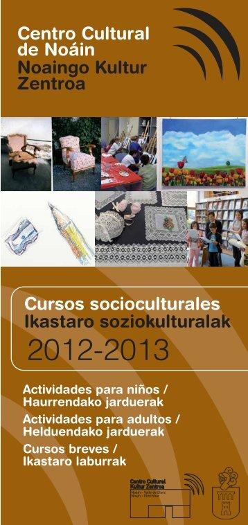 Programa de cursos socioculturales 2011-2012