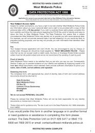 Data Protection Act Request Form wa162 - West Midlands Police ...