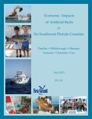 Economic impacts of artificial rEEfs - Taylor County Extension