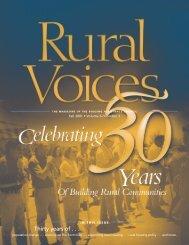 Celebrating 30 Years of Building Rural Communities - Housing ...
