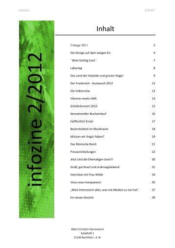 Infozine 2/2012 - Albert Einstein Gymnasium