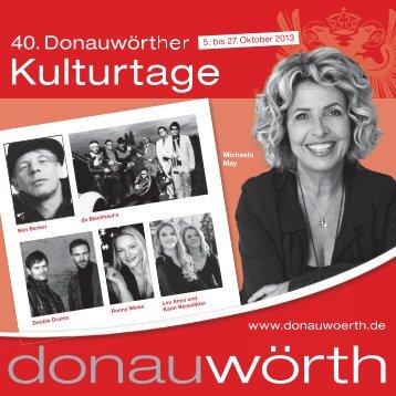 Der Infoflyer für die 40. Donauwörther Kulturtage findet Ihr hier online.