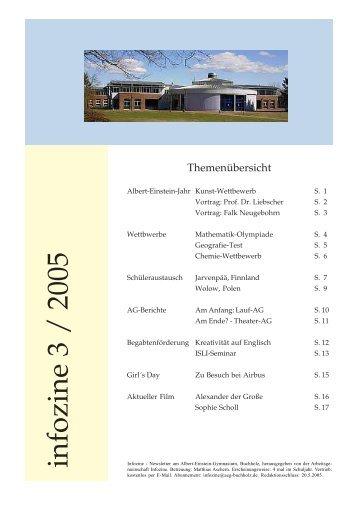 infozine 3 / 2005 - Albert Einstein Gymnasium