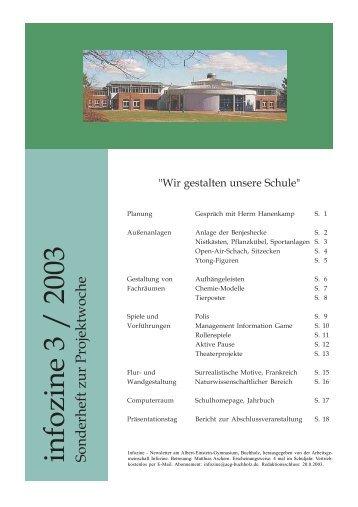 Infozine 3/2003 - Albert Einstein Gymnasium
