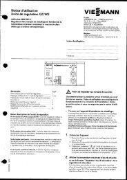 Notice d'utilisation Unité de régulation GZ/WS - Viessmann