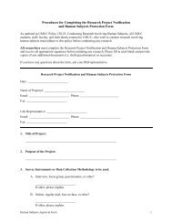 Research Project Notification and Human Subjects Protection Form
