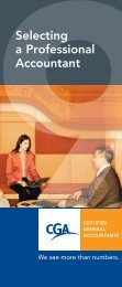 Selecting a Professional Accountant - Certified General Accountants ...