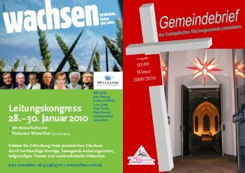 Gemeindebrief Winter 2009-2010 - Evangelische Kirchengemeinde ...