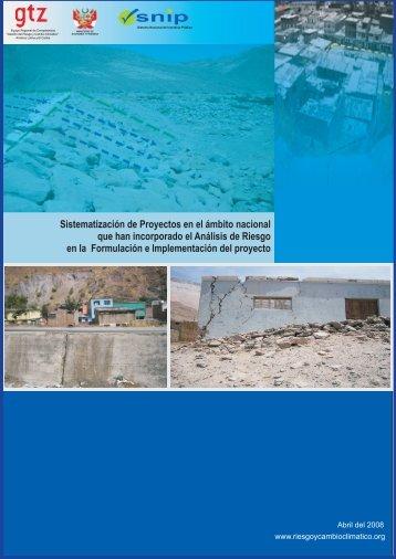 Sistematización de Proyectos en el ámbito nacional que han