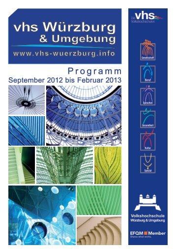 Schon mal einen Kurs ver- schenkt? - VHS Würzburg
