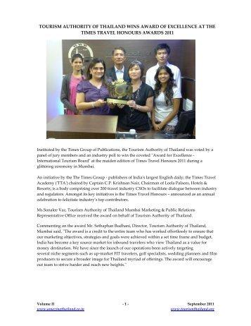 TAT Newsletter September 2011 - Thai Embassy and Consulates