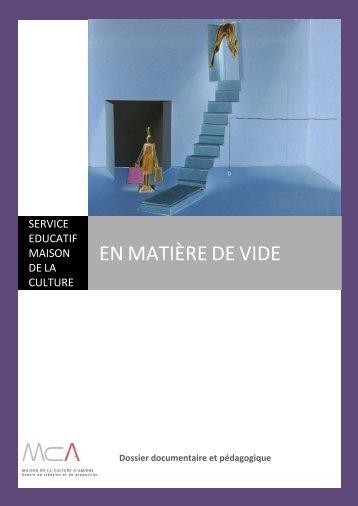 EN MATIÈRE DE VIDE - Maison de la Culture d'Amiens