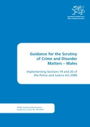 Guidance for the Scrutiny of Crime and Disorder Matters – Wales