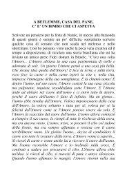 A BETLEMME, CASA DEL PANE, C' E' UN BIMBO CHE ... - CSI Lecco