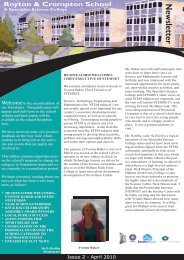 Newsletter April 2010 - Royton and Crompton School