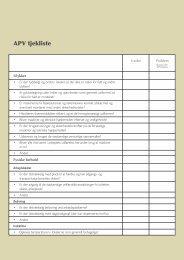 APV i detail - BAR Handel