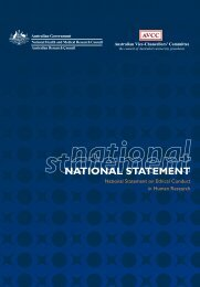 National Statement on Ethical - Family Planning Victoria