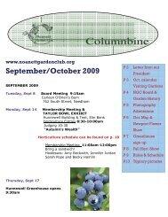 September/October 2009 - Noanett Garden Club
