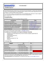 Informationsblatt Anmeldeverfahren Zur Meldung im Personalbüro ...
