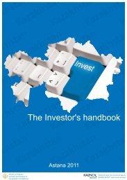 The Investor's handbook - Invest In Kazakhstan