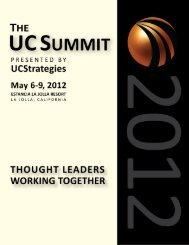 UC Summit Event Guide - UCStrategies.com
