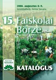 KATALÓGUS - Nyugat-Dunántúli Díszfaiskolások Egyesülete
