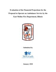 Evaluation of the Financial Projections for the Proposal to Operate ...