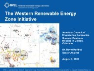 The Western Renewable Energy Zone - American Council of ...