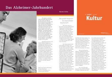 Das Alzheimer-Jahrhundert - Demenzservice-cofone.de