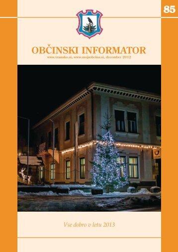 Obcinski informator st. 85 - Občina Vransko