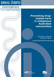 Prevention Research Report: [PDF: 337KB] - DrugInfo - Australian ...