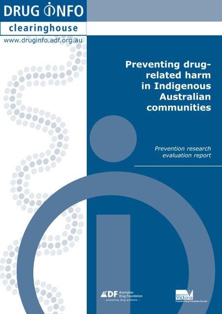 Prevention Research Report: [PDF: 337KB] - DrugInfo - Australian ...