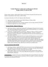 Verbale Comitato di coordinamento 29 febbraio 2008 - GISCoR