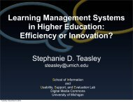 Learning Management Systems in Higher Education ... - CTools