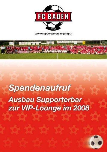 Broschüre Ausbau Supporterbar