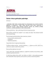 Darbo rinkos galimybių apžvalga - Lietuvos darbo birža