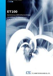 ET100 User Manual - CTC Union Technologies Co.,Ltd.