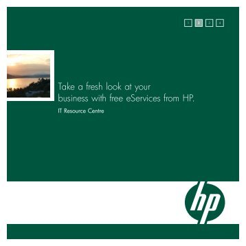 Take a fresh look at your business with free eServices from HP.