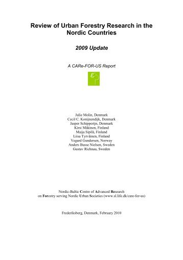 Review of Urban Forestry Research in the Nordic Countries - SNS