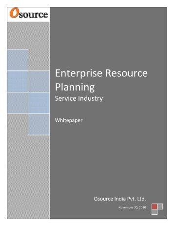 Enterprise Resource Planning.pdf - Osource India